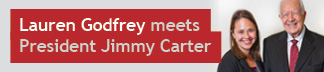 Lauren Godfrey meets President Jimmy Carter