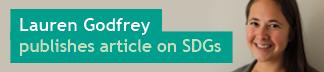 Lauren Godfrey publishes article on SDGs