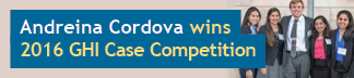 Andreina Cordova Wins 2016 GHI Case Competition