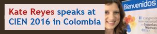 Kate Reyes speaks at CIEN 2016 in Colombia