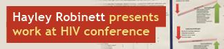Hayley Robinett presents work HIV conference