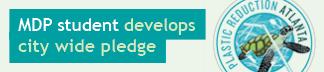 MDP student develops city wide pledge