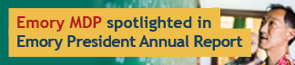 Emory MDP spotlighted in the EMORY LEADS annual report