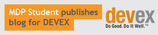 MDP student publishes blog for DEVEX