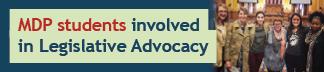 MDP students involved in Legislative Advocacy