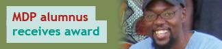 MDP alum receives award